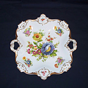 Kaiser W Germany Floral Handled Serving Plate