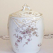 SALE Antique Rosenthal Porcelain Biscuit or Cracker Jar