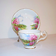 Queen Anne Meadowside Tea Cup and Saucer