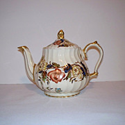 SALE Sadler Bone China Teapot - Flowers - Gold Gilt