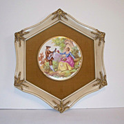 Fragonard's Courting Couples Framed French Tile