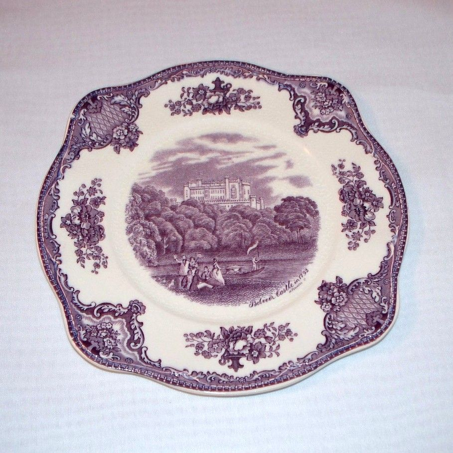 Johnson Brothers Old Britain Castles Purple Transferware Salad Plate
