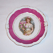 German Porcelain Portrait Plate