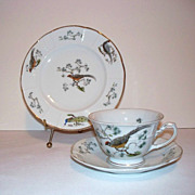 SALE Phillip Rosenthal Bird Tea Cup, Saucer, Plate