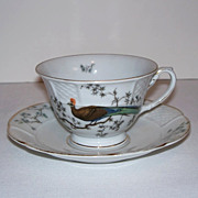 SALE Rosenthal Bird of Paradise Tea Cup and Saucer