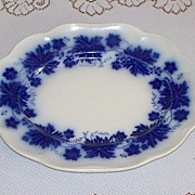 Swedish Flow Blue Oval Serving Platter