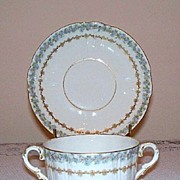 Charles Field Limoges Cream Soup Cup and Saucer