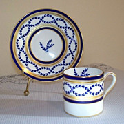 Minton Antoinette Demitasse Tea Cup and Saucer