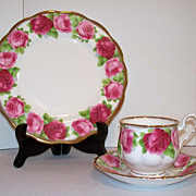 Royal Albert Old English Rose Tea Cup, Saucer, Plate