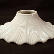 Ribbed Milk Glass Light Shade