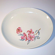 Steubenville Horizon Pink Dogwood Serving Platter