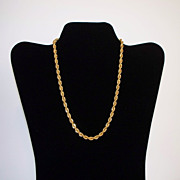 Trifari Twisted Rope Necklace