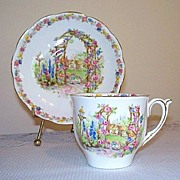 Bell China Rose Cottage Tea Cup and Saucer