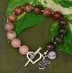 Fine Imperial Jasper Bracelet in Sterling Silver for Mom