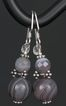 Botswana Agate and Sterling Silver Earrings
