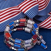 Americana Red, White and Blue Bracelet