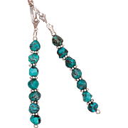 Turquoise Shish Kebab Earrings
