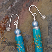 Summer Skies - Paper Bead Earrings