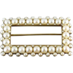 14k gold Victorian pearl buckle pin