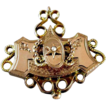 Scarce rose gold Victorian 5 hook chatelaine brooch pin