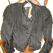 SALE Final Price Reduction: Victorian Mourning Jacket, Fab Lace and Beading