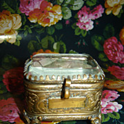 SOLD Antique Vitrine/Jewelry Box for French Fashion