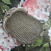 SOLD Victorian Chatelaine Purse for Antique Doll - Red Tag Sale Item
