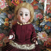 SOLD Antique All-Bisque, Swivel Neck/Sleep Eyes; Beautiful Costume