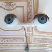 SALE Large Antique German Sleep Eyes with Original Lashes