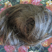 "SALE Antique 8"" German Human Hair Wig"