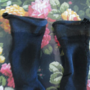 Antique Black Silk Doll Socks