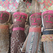 Early Folk Art Peruvian Cloth Dolls