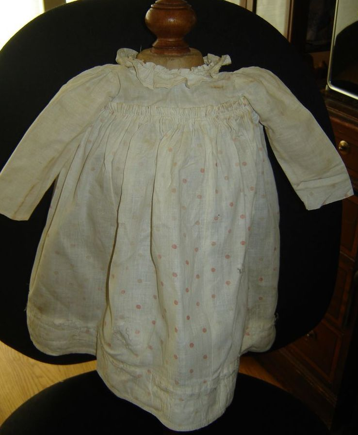 Charming Very Early Doll Dress, Perfect for China