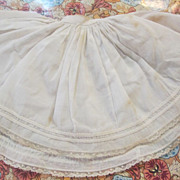 Antique Slip, Very Full with Fine Lace