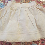 Antique Doll Slip with Tucking and Lace