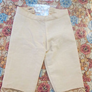 Antique Doll Pantaloons with Scalloped Lace