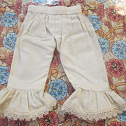 Antique Petite Pantaloons with Ruffled Hems