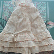 Antique Fashion Skirt with Flounced Hem