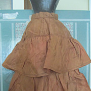 Antique Copper Silk French Fashion Skirt