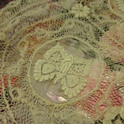 Antique Valenciennes Lace Baby Cap