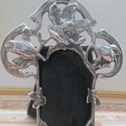 Exquisite Art Nouveau Silver Frame for French Fashion
