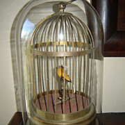 SOLD Final Reduction: Charming Vintage German Bird Key-Wind Automaton; TLC