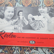 Ideal Little Miss Revlon Fashion Catalog (with notes!)
