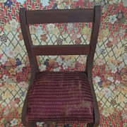 Vintage Wooden Chair for Doll Display