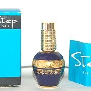 SALE STEP Paris Limoges Cobalt Blue Perfume Atomizer, MIB, Paperwork Included