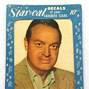 SALE 1952 STAR CAL Decals, Original Packaging!Bob Hope, Rarest of the Rare