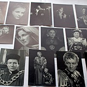SALE RARE 1948 Complete Set Royal Shakespeare Theatre Series 1-69, Angus McBean, Postcards