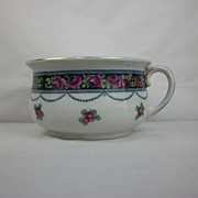 Keeling & Co Losol Ware Flow Blue Polychrome Chamber Pot in the Grosvener pattern