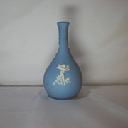 SALE Wedgwood Jasperware Bud Vase in blue