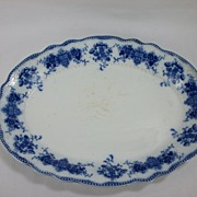 Flow Blue Serving Platter, Clarence by Grindley